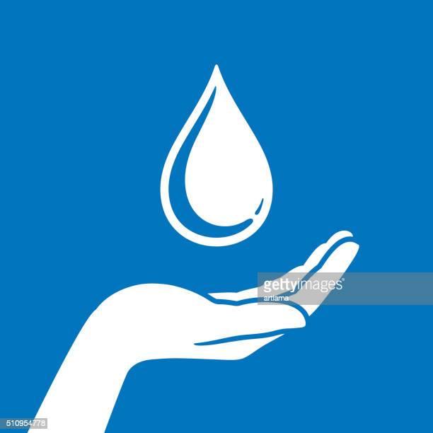 Mão protecção de água