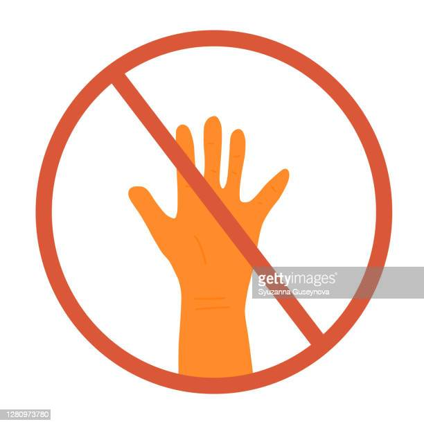 dont touch icon vector illustration vector