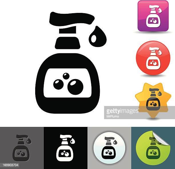 hand sanitizer icon | solicosi series - hand sanitizer stock illustrations