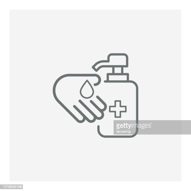 手指消毒器アイコン - 消毒点のイラスト素材/クリップアート素材/マンガ素材/アイコン素材