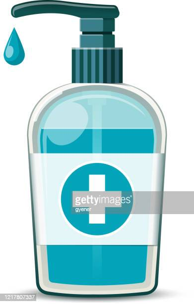 手指消毒記号 - 手指消毒剤点のイラスト素材/クリップアート素材/マンガ素材/アイコン素材