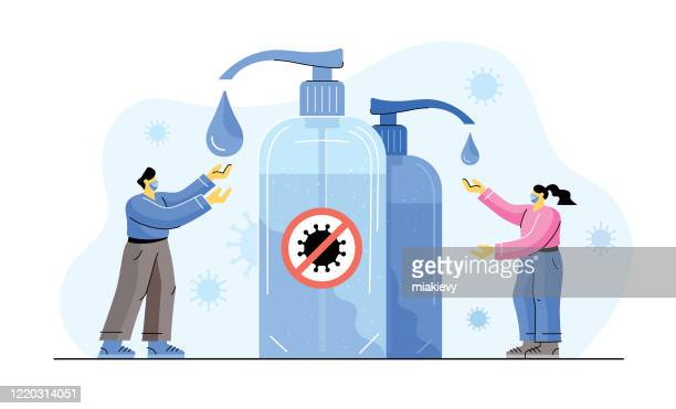 hand sanitizer - hand sanitizer stock illustrations