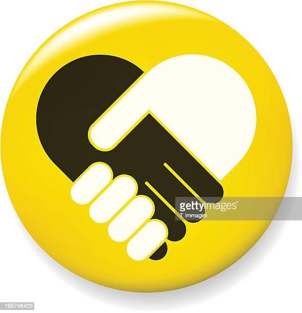 Hand shake pin