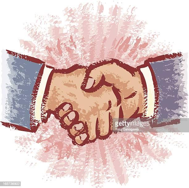hand shake - diplomacy stock illustrations