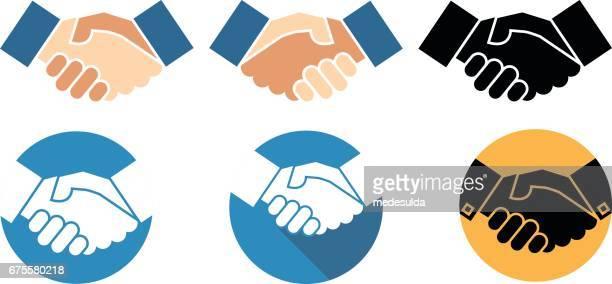 hand shake - respect stock illustrations