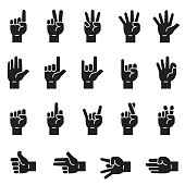 Hand Sign Icons [Black Edition]