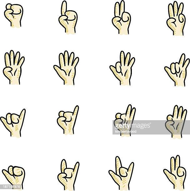 hand sign - counting stock illustrations
