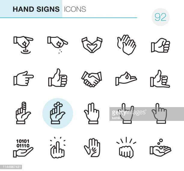 handzeichen-pixel perfekte icons - daumen hoch stock-grafiken, -clipart, -cartoons und -symbole