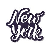 Hand sketched New York text. Vector illustration.