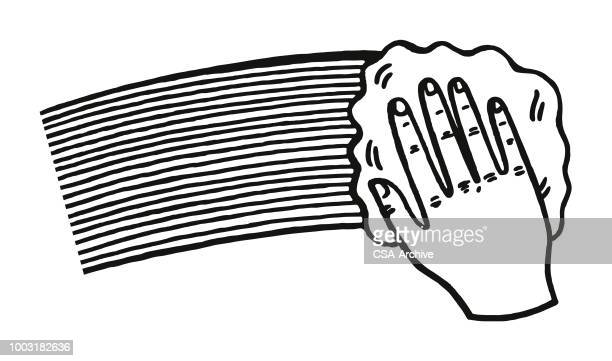 hand swiping a cloth - housework stock illustrations, clip art, cartoons, & icons