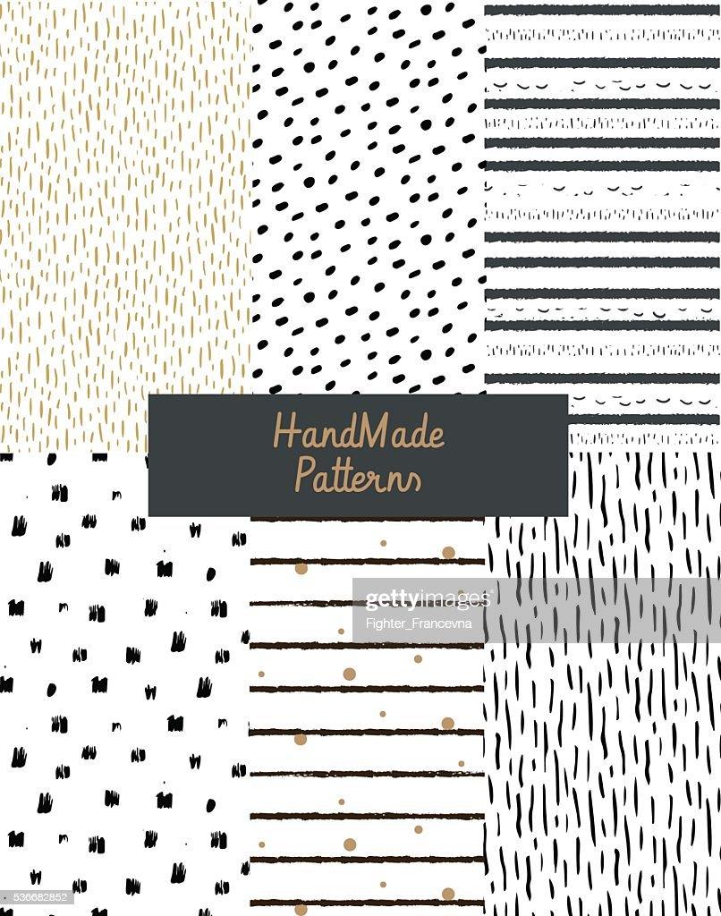 Hand textures of ink