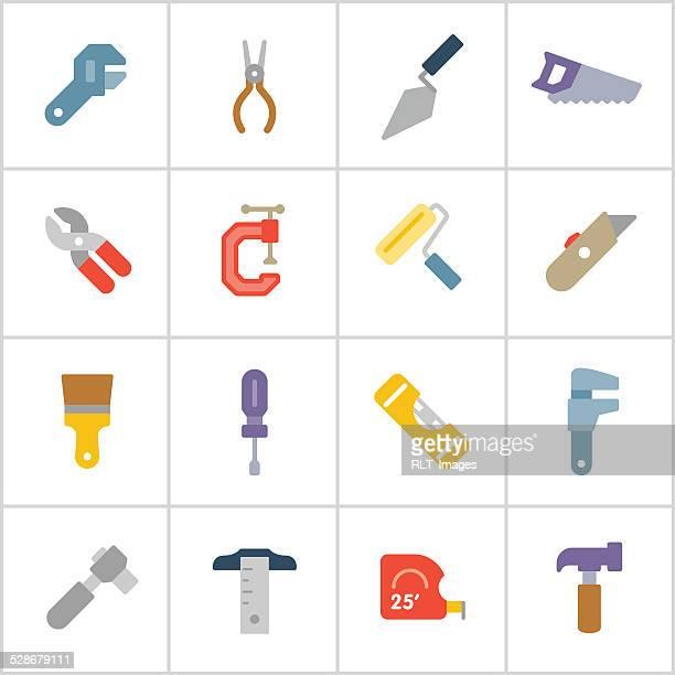 Mão ferramenta de poli série ícones —