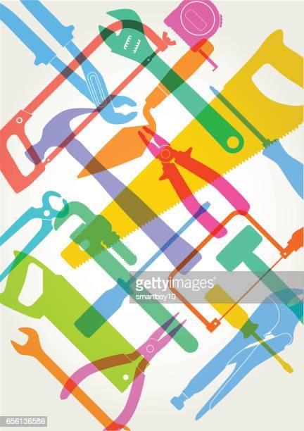 diy hand tools - trowel stock illustrations, clip art, cartoons, & icons