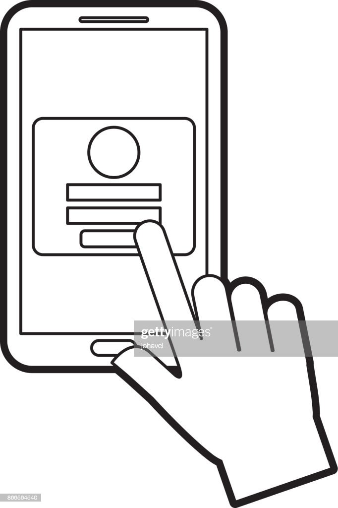 hand touch mobile phone webpage login security