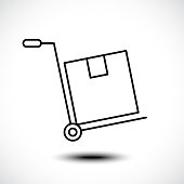 Hand truck line icon