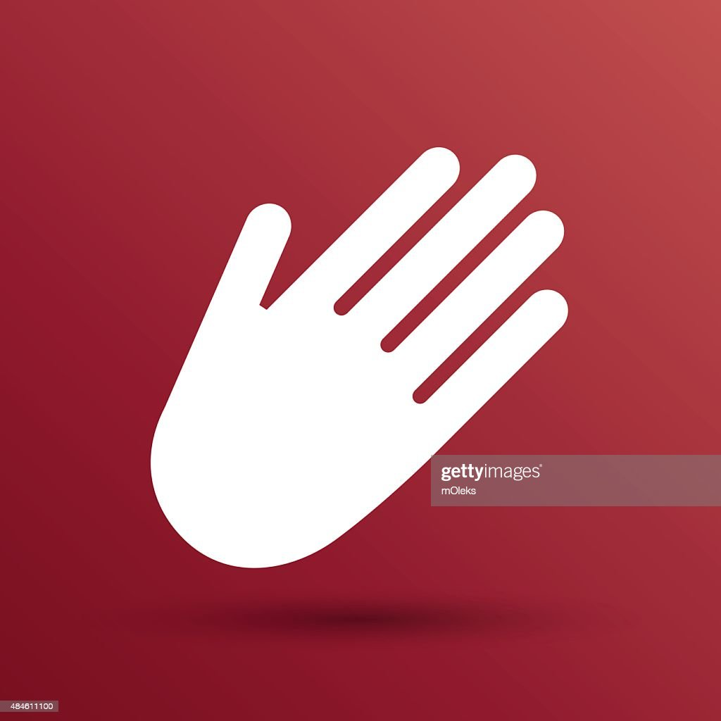 Hand Vector Icon Palm Symbol Graphic Sign Line Vector Art Getty Images