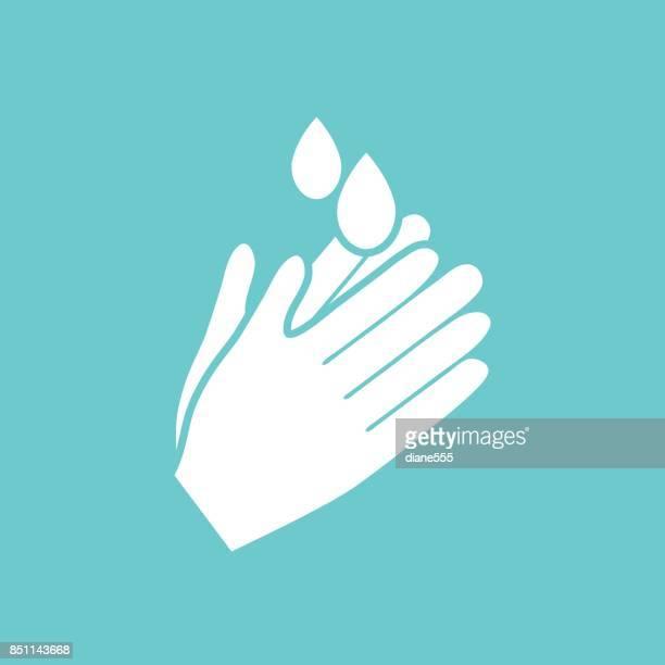 手洗浄バッジまたはアイコン
