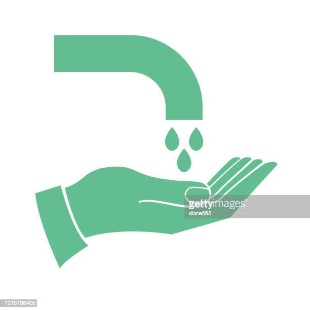 hand washing icon - centers for disease control and prevention stock illustrations