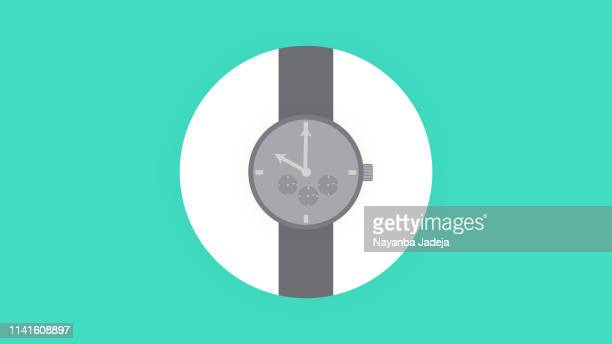 hand watch icon - cardiac conduction system stock illustrations