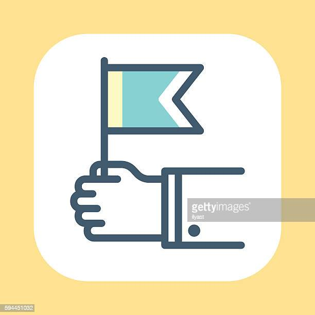 hand waving symbol - holding stock illustrations, clip art, cartoons, & icons