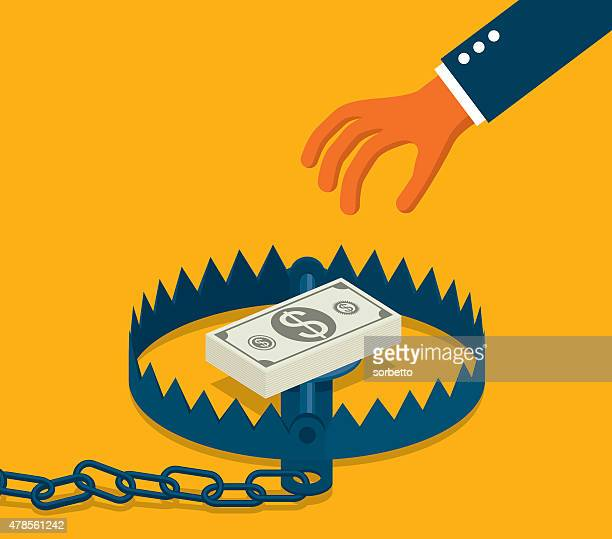 Hand With Banknote Business Trap