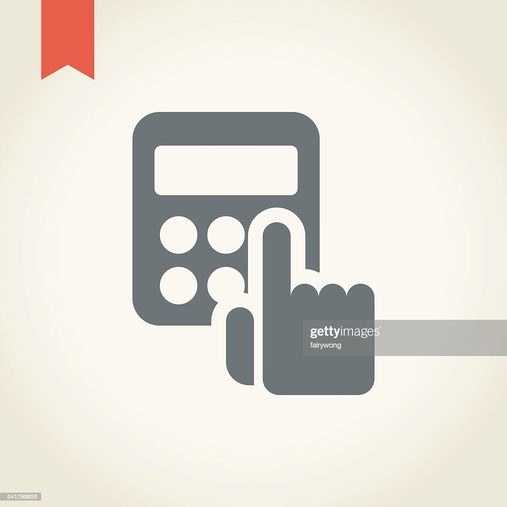 Hand with calculator icon