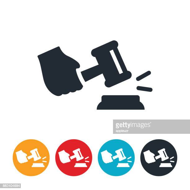 Hand With Gavel Icon