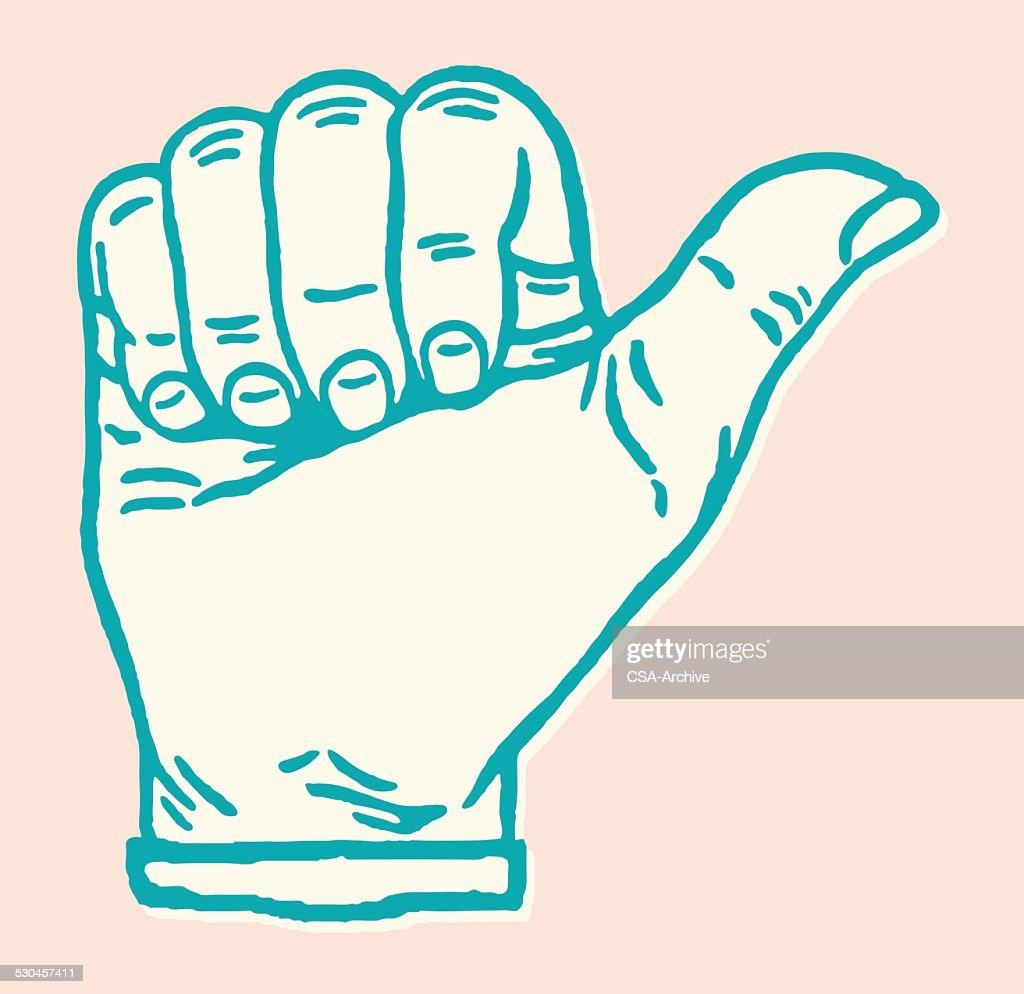 Hand with Thumb Out : stock illustration