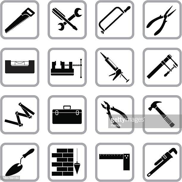 Hand work tools icons