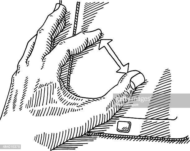 Hand Zoom Gesture Tablet PC Drawing