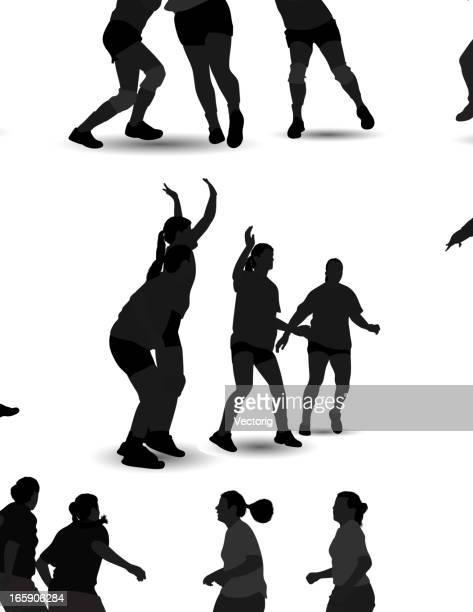 handball silhouette - handball stock illustrations