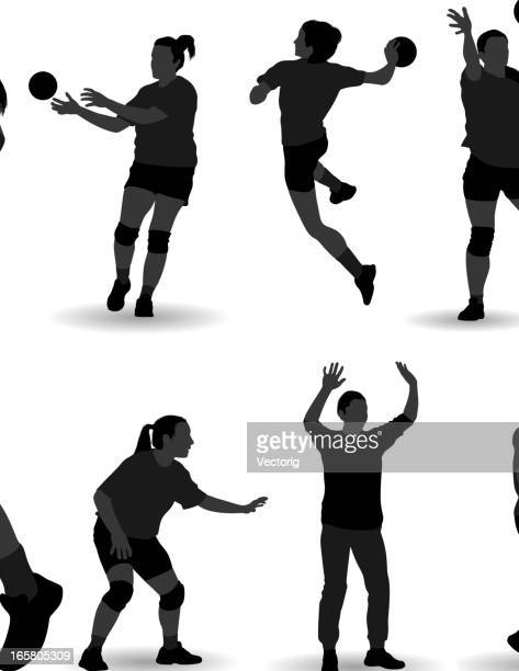 handball - handball stock illustrations