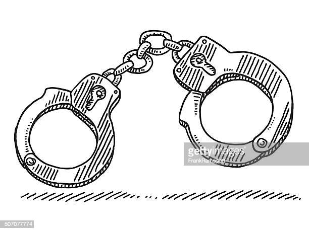 Handcuffs Symbol Drawing