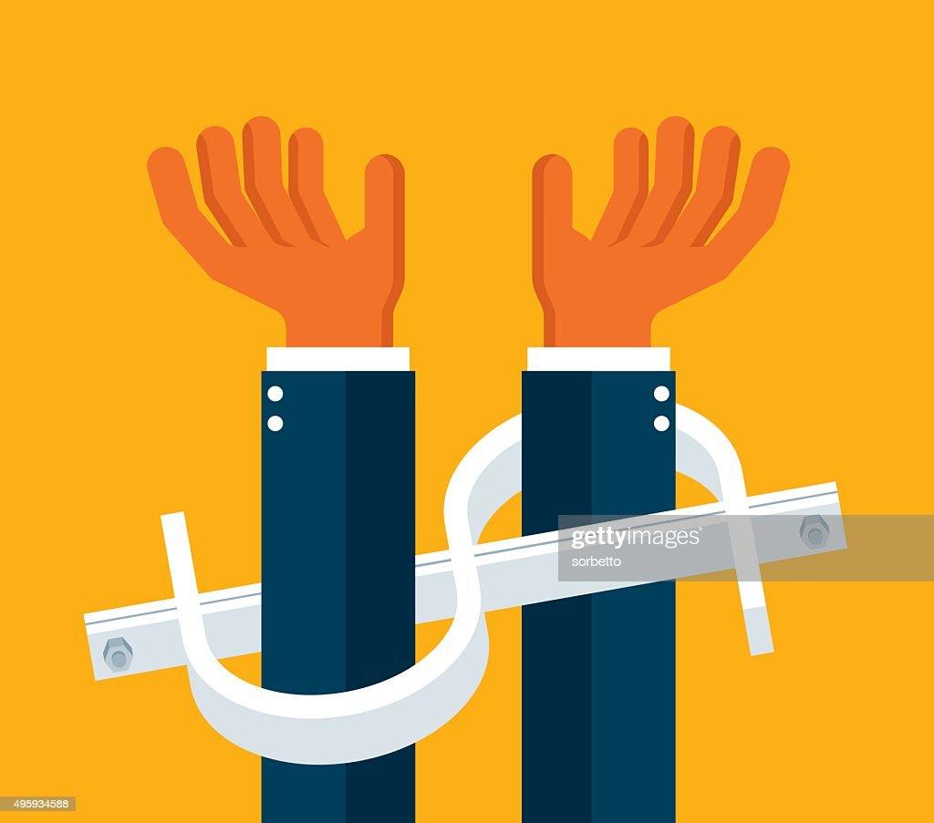 Handcuffs : Vector Art