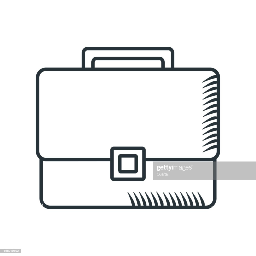 handdraw icon briefcase