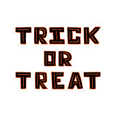 Hand-drawn black unique lettering for Halloween on the white background.