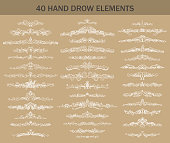 Hand-drawn calligraphy dividers