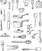 Hand-drawn Cookware Illustrations