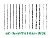 Hand-Drawn Crayon & Pastel Paint Brush Set for Sketch, Texture and Lettering