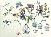 Hand-drawn floral illustration