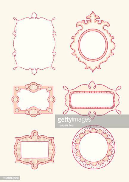 handgezeichneter bilder - oval stock-grafiken, -clipart, -cartoons und -symbole
