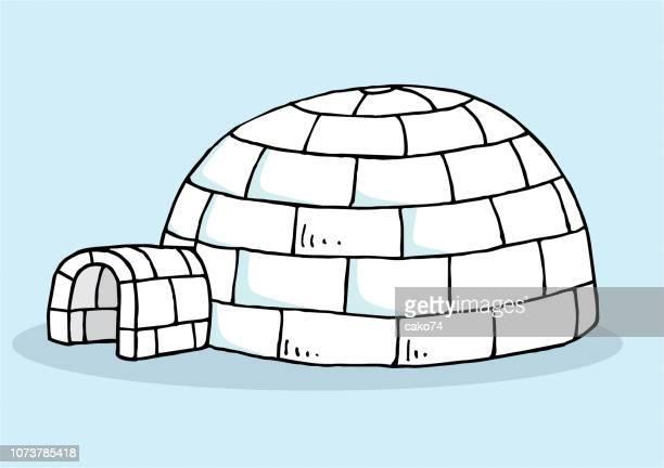 illustrations, cliparts, dessins animés et icônes de igloo dessinés à la main - igloo