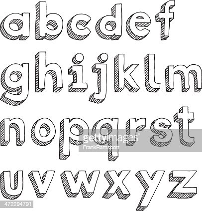 block letters lowercase handdrawn lowercase alphabet in sans serif font vector 15859 | handdrawn lowercase alphabet in sans serif font vector id472294791?s=170667a
