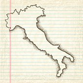 Hand-Drawn Map of Italy