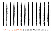 Hand-Drawn Marker Brush Vector Set