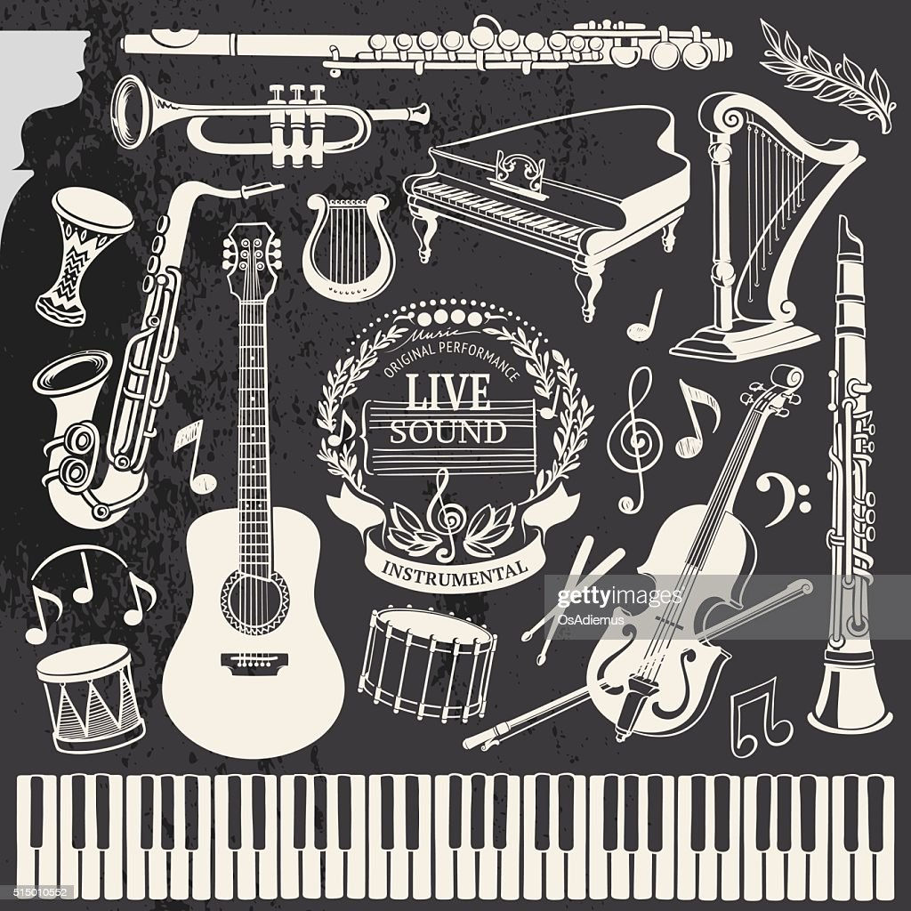 Hand-drawn Music Instruments