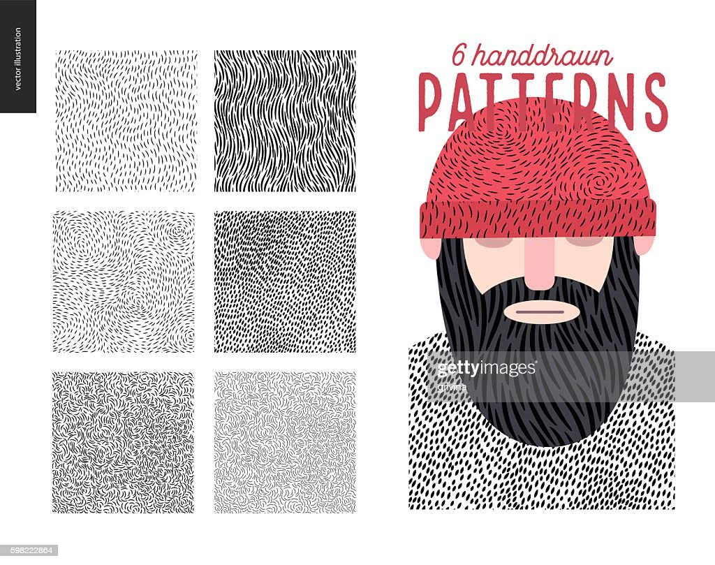 Handdrawn patterns set