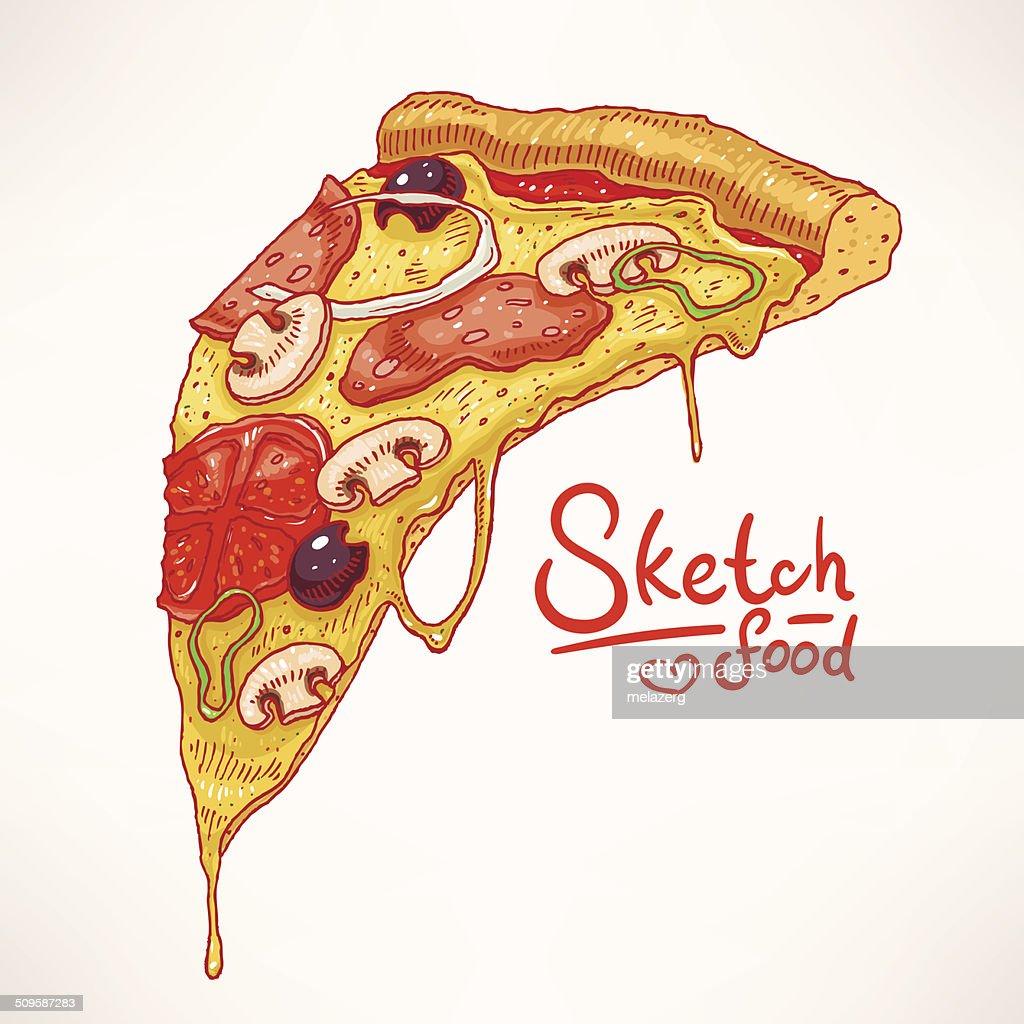 hand-drawn pizza - 2