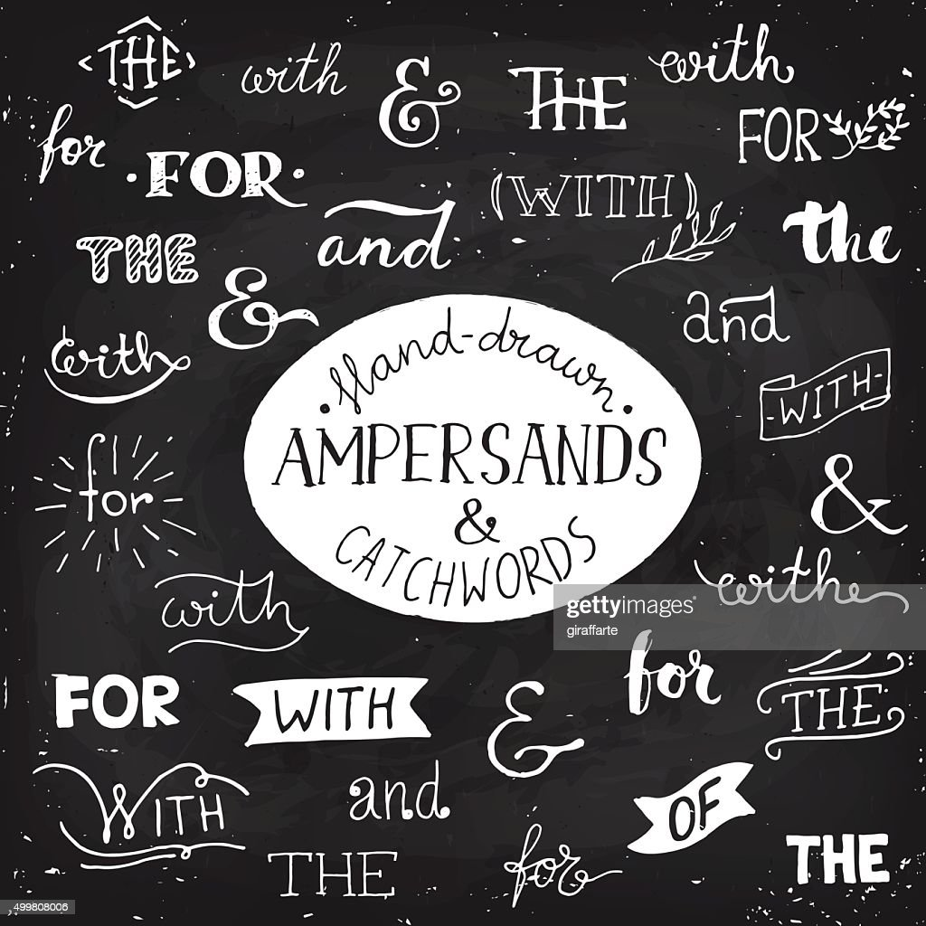 Hand-drawn poster with ampersands and catchwords.
