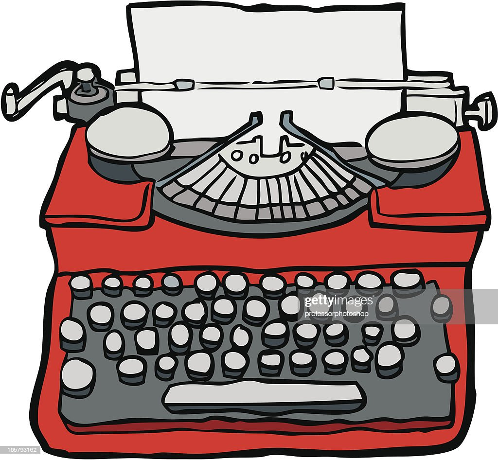 handdrawn typewriter vector art getty images rh gettyimages com old typewriter clipart old typewriter clipart
